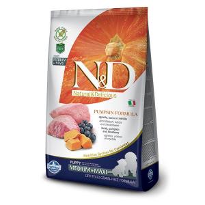Корм сухой Farmina N&D для щенков мелких пород с ягненком черникой и тыквой 2.5кг