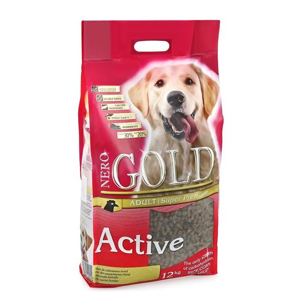 Корм сухой Nero gold super premium для активных собак с курицей и рисом 12кг
