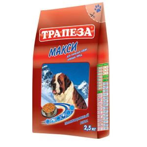 Корм сухой Трапеза для взрослых собак крупных пород с мясом 13кг