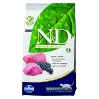 Корм сухой Farmina N&D для взрослых собак мелких пород с ягненком и черникой