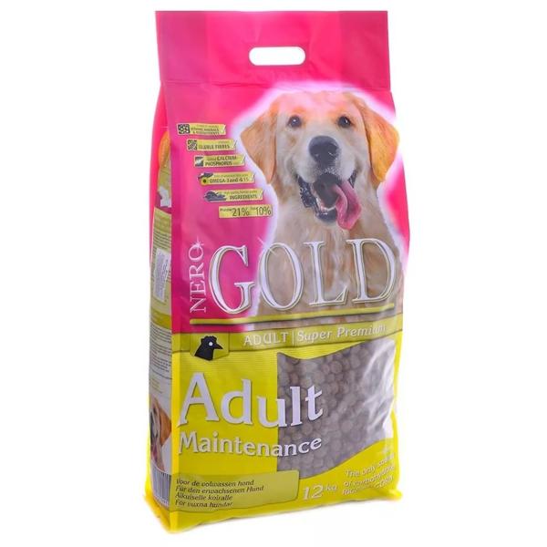 Корм сухой Nero gold super premium для взрослых собак контроль веса с курицей 12кг