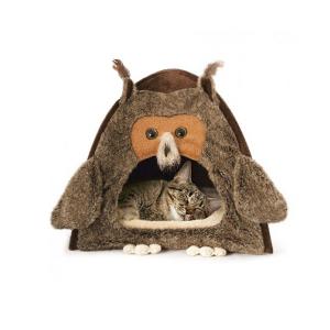Домик Gigwi Сова для кошек 38х38х40см