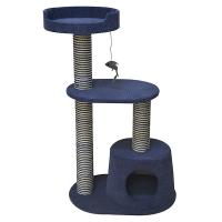 Игровой комплекс-когтеточка Ferribiella Tiragraffi Notte трехэтажный для кошек 55х40х90см