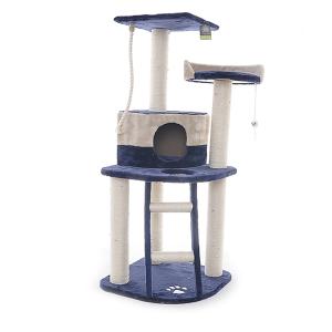 Когтеточка Papillon Осло голубо-бежевая для кошек 49х49х120см