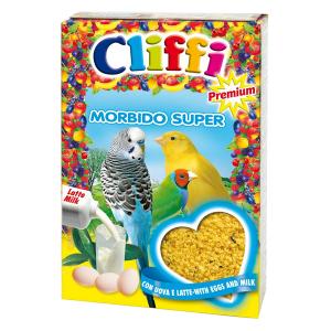 Корм Cliffi Morbido Super Яичный с молоком 1кг для всех зерноядных птиц