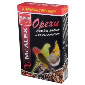 Корм Mr.Alex Орех для средних и мелких попугаев 500гр